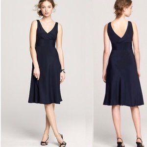 J. Crew Silk Sophia Dress Navy 2P